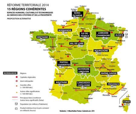 Une carte alternative pour la réforme territoriale
